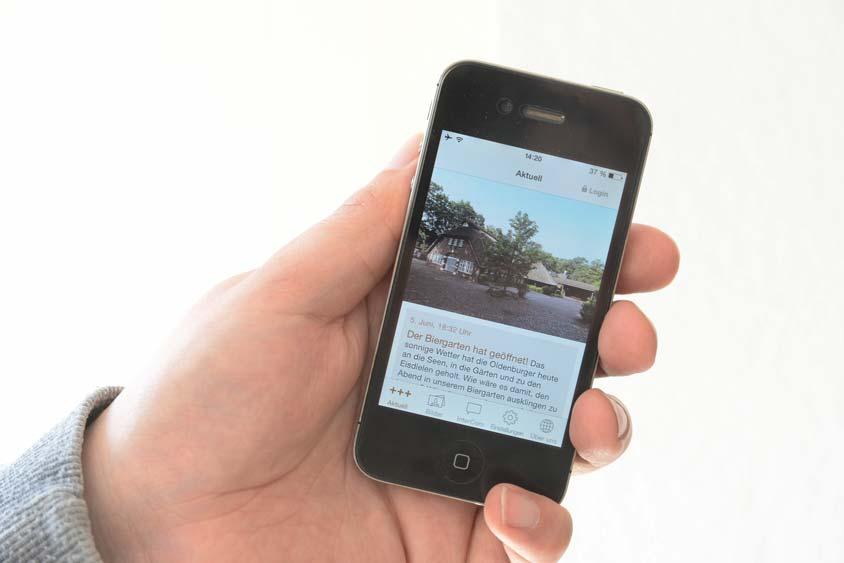 Wer Informationen vom Bümmersteder Krug nicht mehr verpassen möchte, der kann unsere App nutzen, die kostenlos heruntergeladen werden kann.