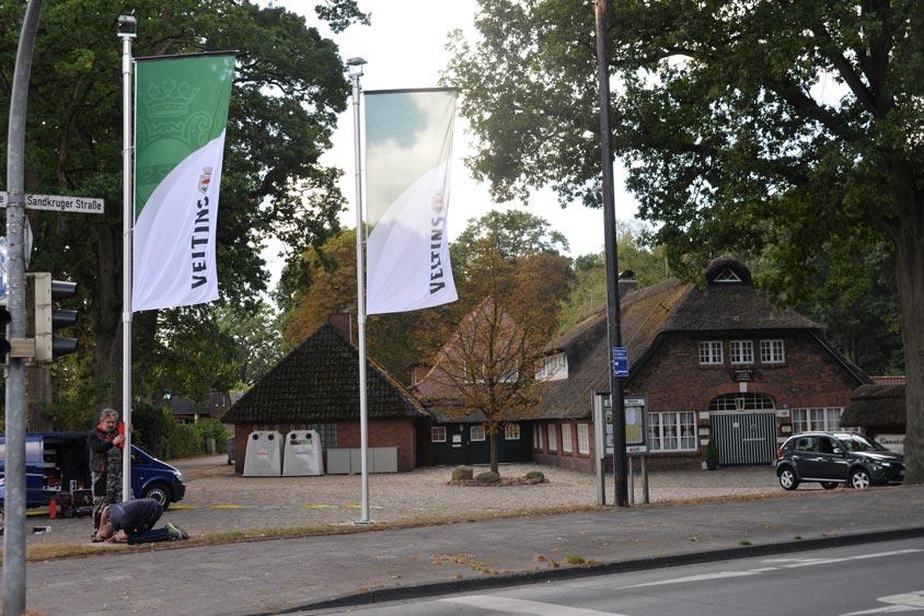 Fahnenstange am Bümmersteder Krug.