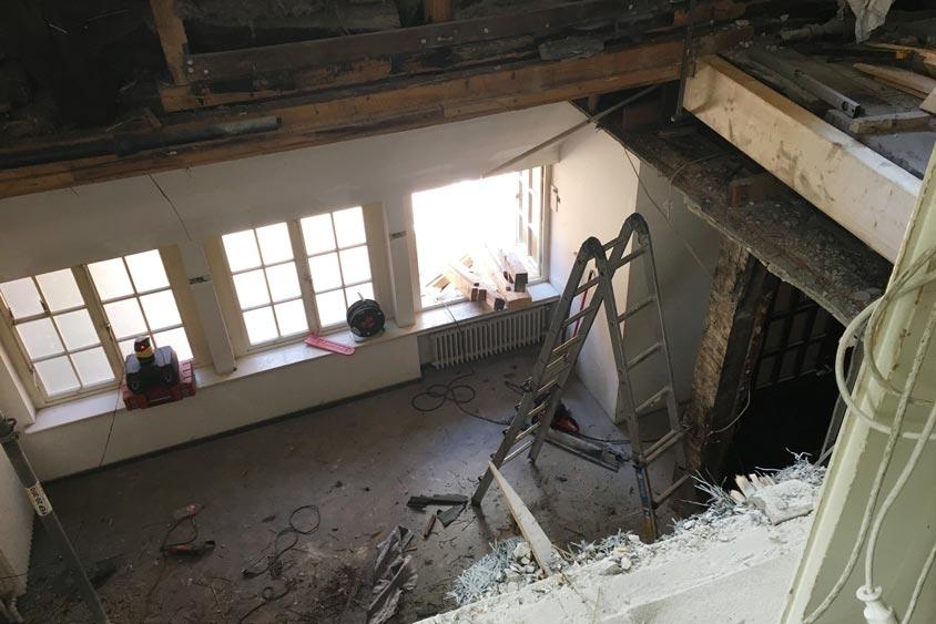 Umbauarbeiten im Bümmersteder Krug.