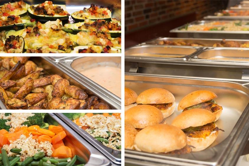 Die Hauptgerichte unseres vegan-vegetarischen Hochzeitsbüfetts.