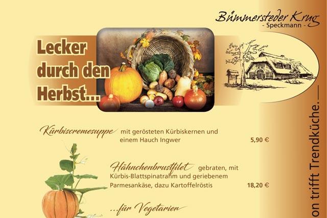 Lecker durch den Herbst – mit Herbstmenüs im Bümmersteder Krug